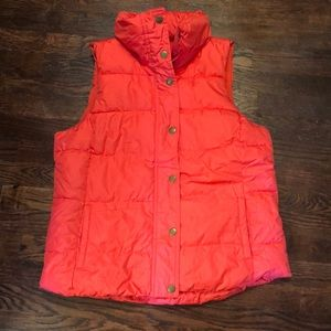 Old Navy Neon Coral Puffer Vest